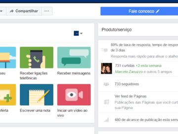 Advertisement: página facebook de agenciador de empresas
