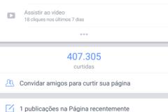 Advertisement: Página com 400 mil likes