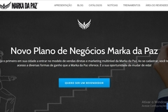 Advertisement: Site - Revendedor Marka da Paz