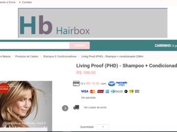 Advertisement: Loja virtual de cosméticos profissionais
